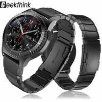 22mm 20mm Watch Band do Samsung Galaxy watch 42 46mm Amazfit Bip Pace Motor 360 stal nierdzewna stalowy pasek Gear S3 S2 Classic Garmin
