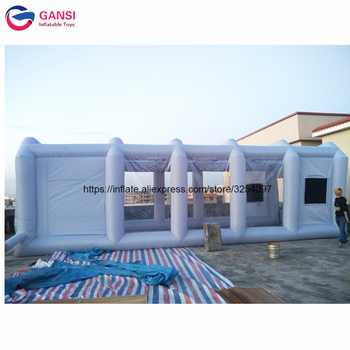 High quality inflatable paint booth 10*5*3.5m gray portable auto paint booth cheap inflatable spray booth with 2 air blowers hot selling paint booth inflatable portable paint booth inflatable car tent inflatable spray booth for car tent toys