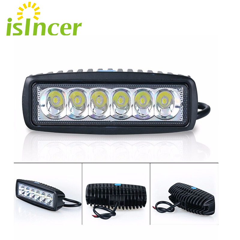 2pcs Spotlight Flood 12V 18W Car LED Work Light Bar LED Light Work Lamp Driving Running Light Fog Offroad SUV 4WD Boat Tractor