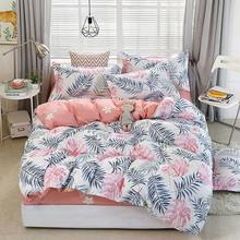 Tropical Plant 4pcs Kid Bed Cover Set Duvet Cover Adult Child Bed Sheets And Pillowcases Comforter Bedding Set 2TJ-61006(China)