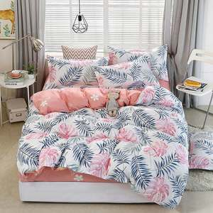 Bed-Cover-Set Pillowcases Comforter Tropical-Plant Child Adult Kid And 4pcs 2TJ-61006