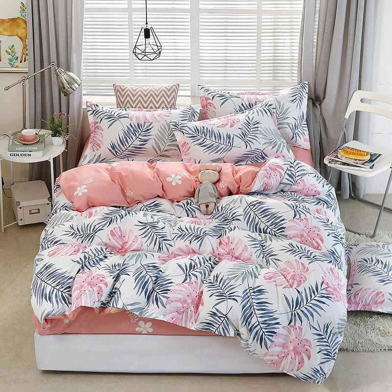 Zestaw narzut na łóżko dla dzieci zestaw narzut na łóżko kołdra dla dorosłych prześcieradła dla dzieci i poszewki na poduszki komfortowa pościel zestaw 2TJ-61006