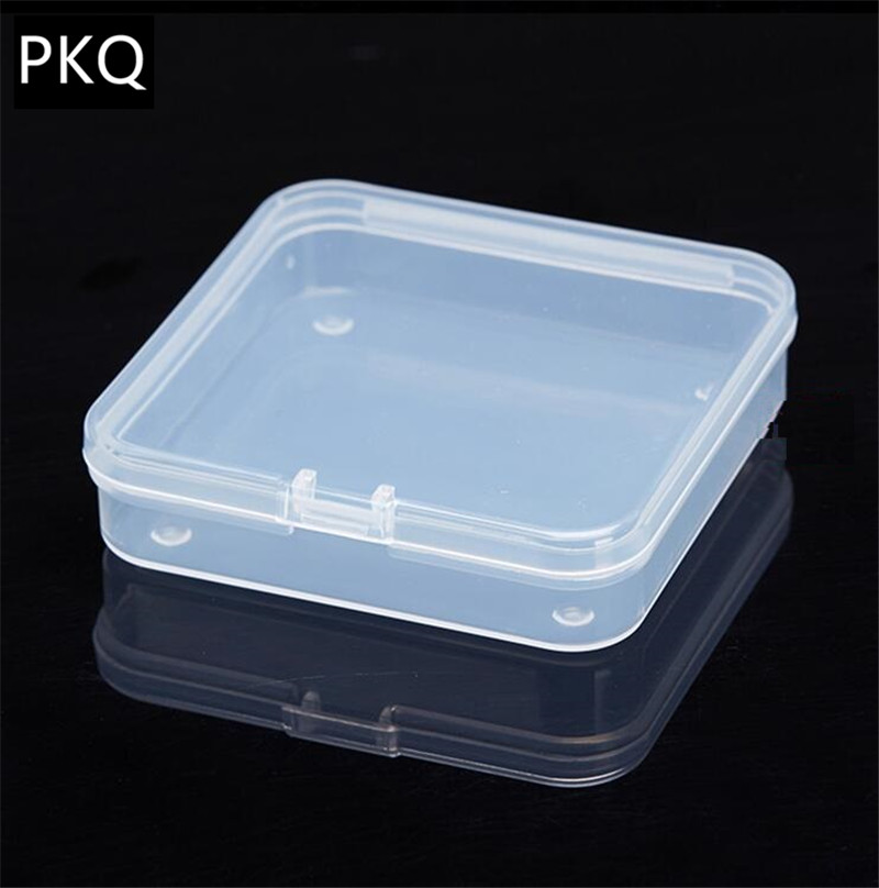 Best Small Transparent Plastic Storage Box clear Square Multipurpose display