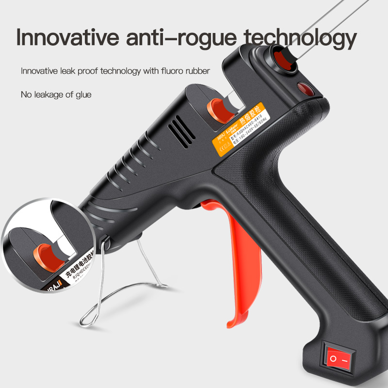 AIRAJ 400W pistolet à colle thermofusible de qualité industrielle, donner 10 bâtons de colle pour les outils adhésifs faits main de bricolage domestique - 2