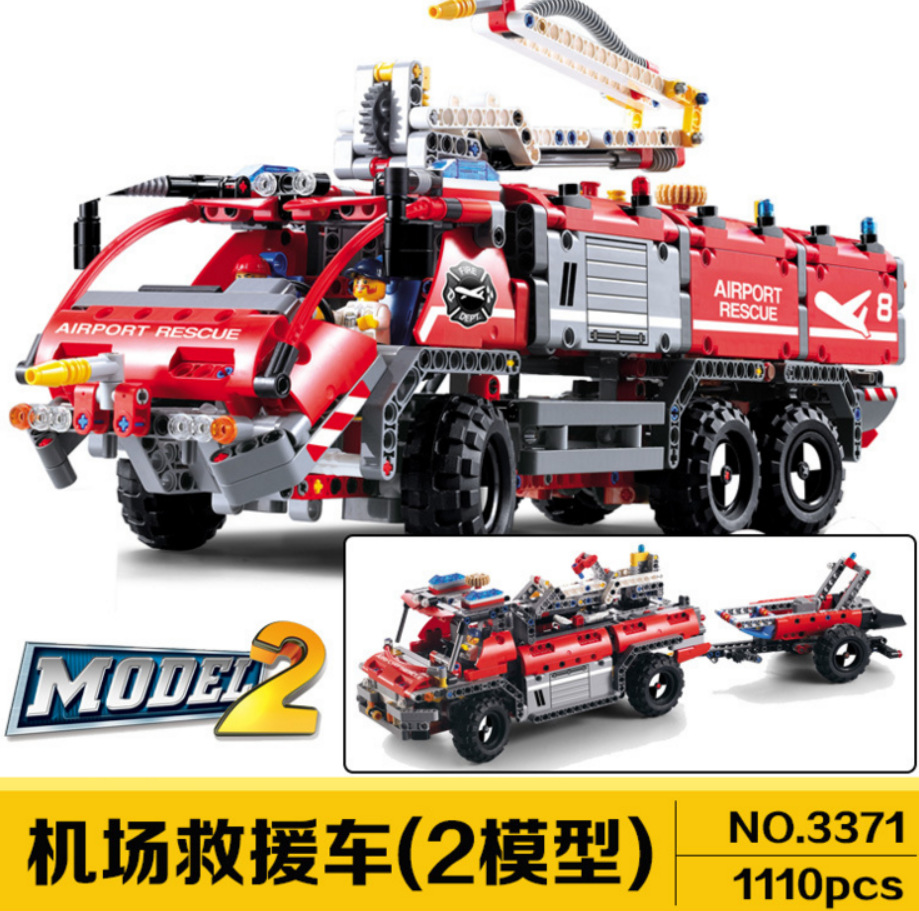 Mechanical Technology Series airport Firefighter Truck Fire Accident Rescue Building brocks bricks baby gift childre decool 3371Mechanical Technology Series airport Firefighter Truck Fire Accident Rescue Building brocks bricks baby gift childre decool 3371