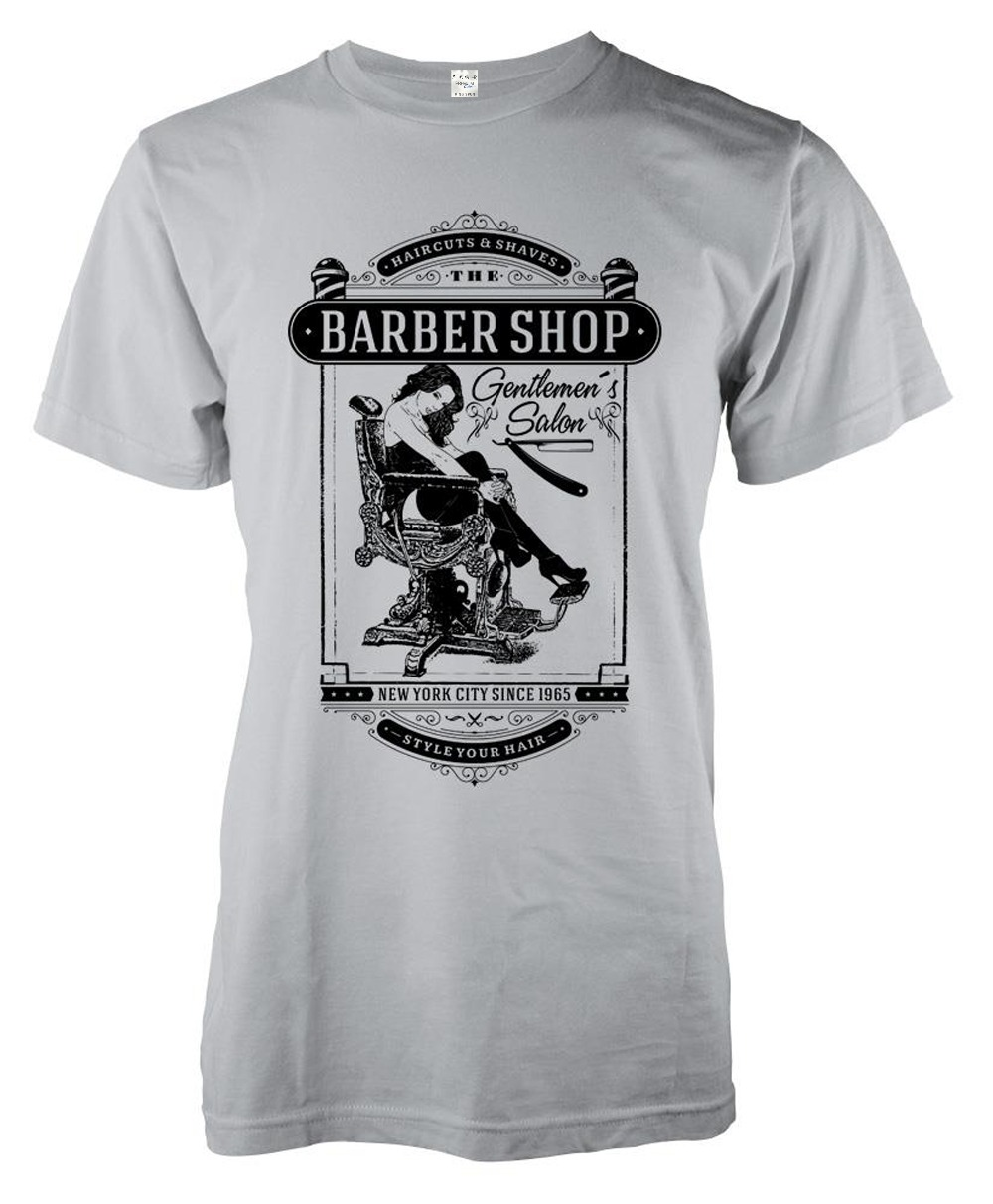 2018 MenS Fashion Brand Clothing Barber Shop Blade Razor Chair Beard Adult Hot Sale 100% Cotton Printing Tee Shirt