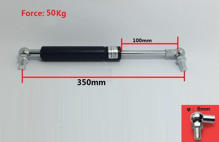 Livraison Gratuite 2 pcs/lot 350mm x 100mm Force 50 kg 110lbs Ressort À Gaz Amortisseur pour Voiture Auto