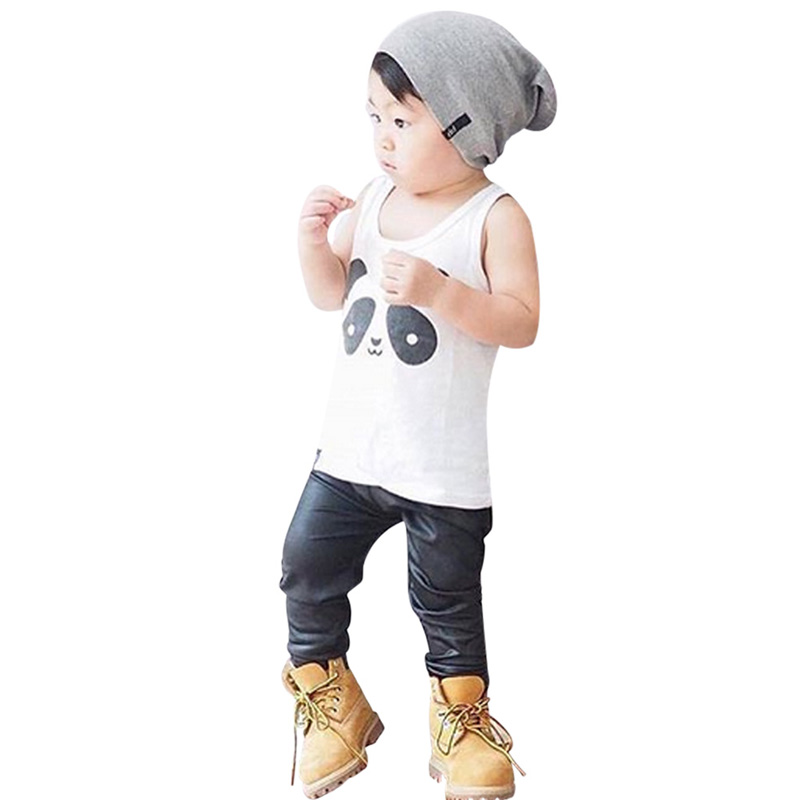Fashion Baby Girl Boy Clothing Unisex Panda Print T-shirt White Children Tees Activating Blood Circulation And Strengthening Sinews And Bones