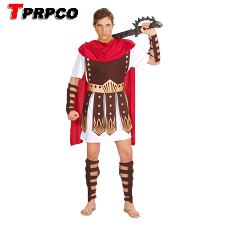 Mens Medieval Warrior Costume Adults Roman Gladiator Fancy Dress History Outfit