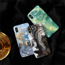 Luxury Marble Glossy Silicone Phone Case For iPhone XS Max X XR 7 8 6 6S Plus Soft TPU Back Cover