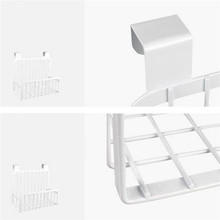 Carbon steel food storage shelves kitchen seasoning container rack storage organizer holder stand for refrigerator wall hook