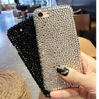 Shiny Phone Cover For Iphone X 7 8 6 6s Plus Full Rhinestone Diamond Fitted Soft