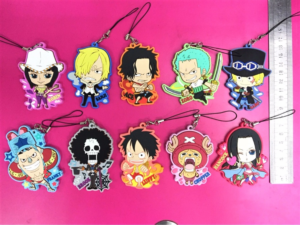 One Piece Luffy Rubber Phone Strap NEW