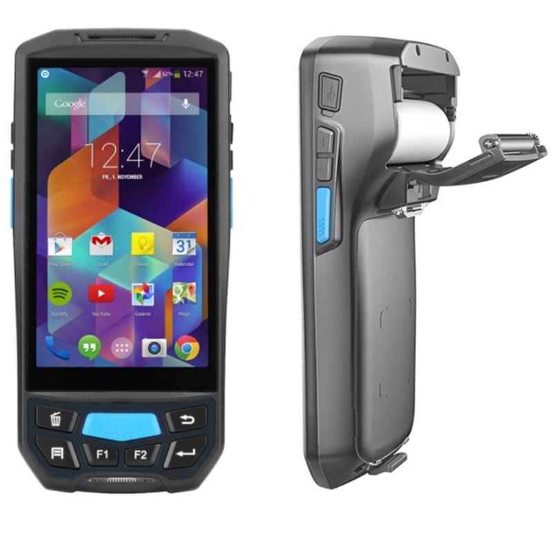 Android Impressora PDA Industrial Robusto Terminal Portátil Android Sem Fio bluetooth barcode scanner com impressora Para Impressão