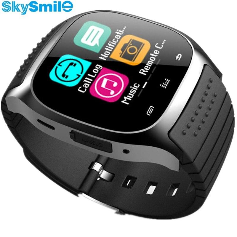 10 unids m26 bluetooth smart watch dhl libre inteligencia musical relojes teléfo