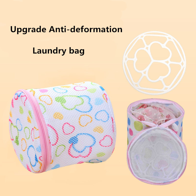 1 Pcs Colorful Wash Bags For Washing Machine Protected Underwear Bra Laundry Bag Zipper Lingerie Mesh Net Washing Bag For Ladies