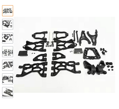 King Motor Upgraded Black Nylon Suspension Arms & Parts Fits HPI Baja 5B, 5T, 5SC (gas) SS, 2.0 double 2 spring clutch 7000rpm clutch assembly with alloy clutch mount fits 23 30 5cc gas engine zenoah cy hpi baja 5b ss 5t 5sc
