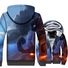Apofiss Cat World 3D Print Hoodie Men Hooded Sweatshirt Winter Thick Fleece Warm Zip up Coat Jacket Plus Size 5XL цена 2017