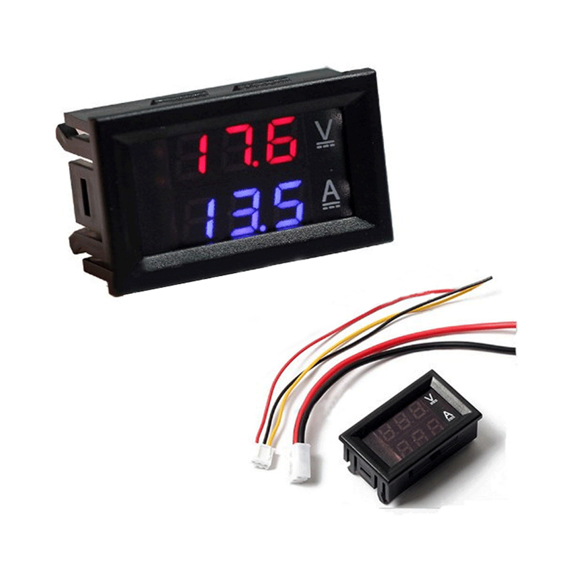 DIY DC100V 10A Voltmeter Ammeter Blue Red Dual Amp Volt Voltage Current Meter Gauge Tester Panel Digital LED Display for Car hot sale factory price pvc giant outdoor water inflatable slide bounce house bouncy slide