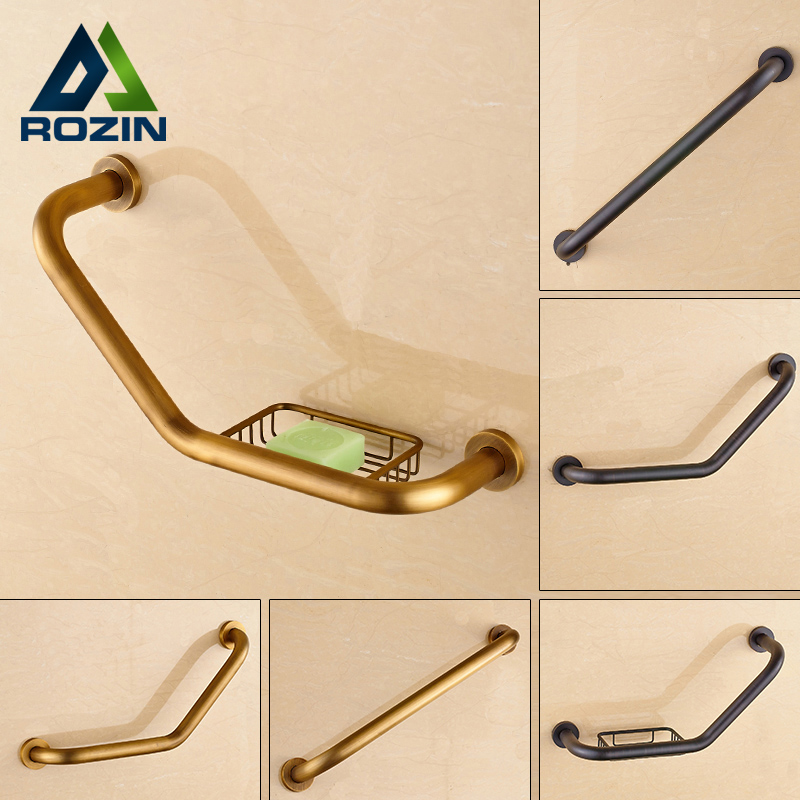Free Shipping Brass Bathroom Grab Bars Wall Mounted Helping Handle Bars for Bathtub Safety Grip Handrail for Children Elderly