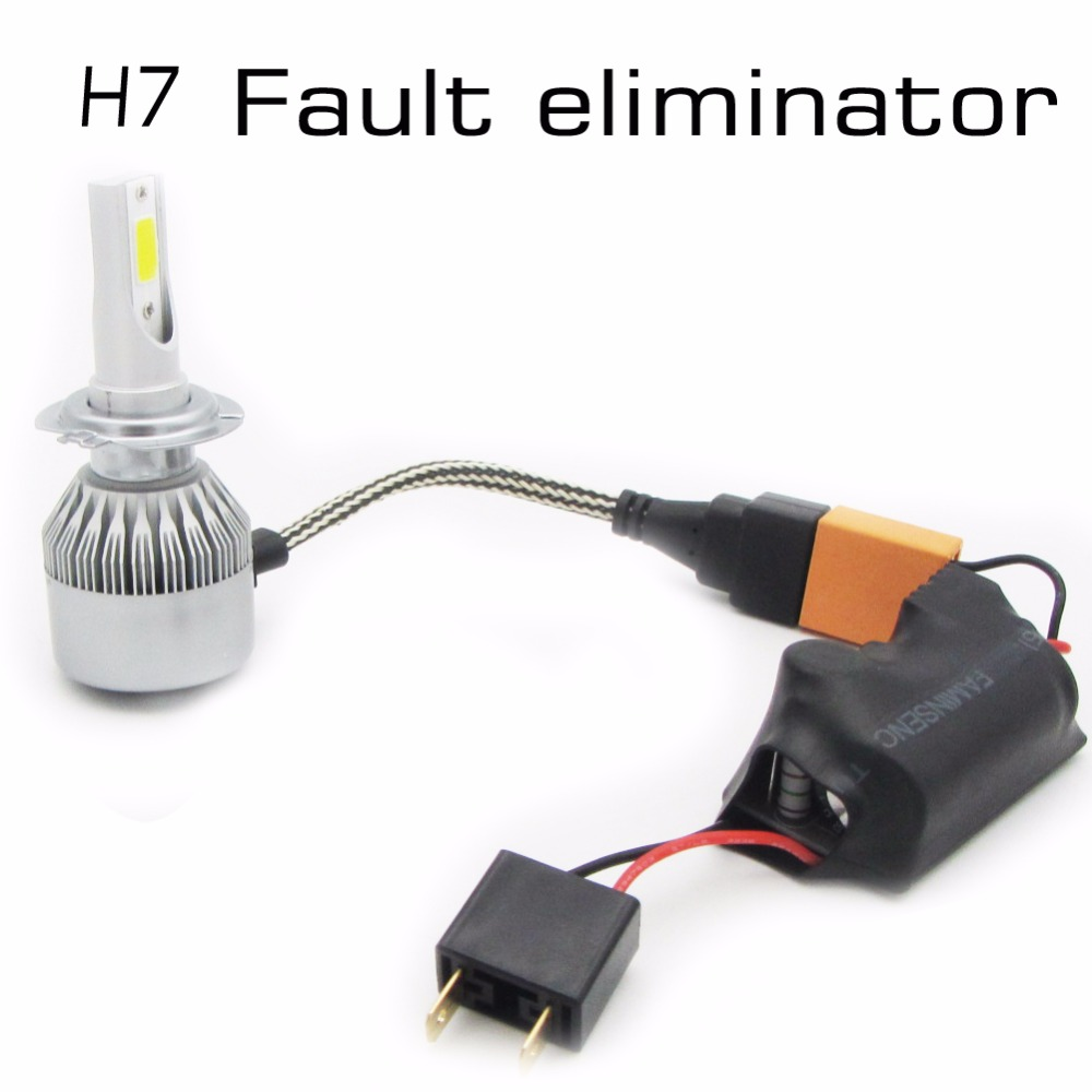 2pcs H7 LED Light CANBUS Wiring Harness Adapter LED Headlamps Warning Canceller Automotive LED H7 Canbus Fault eliminator a fault 7