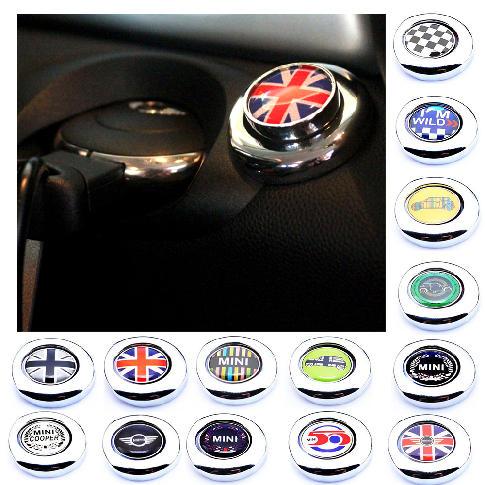Engine One Start Stop Push Button Cap Cover Decoration For 2nd Gen MINI Cooper One S Coutryman R55 R56 R57 R58 R59 Car-styling