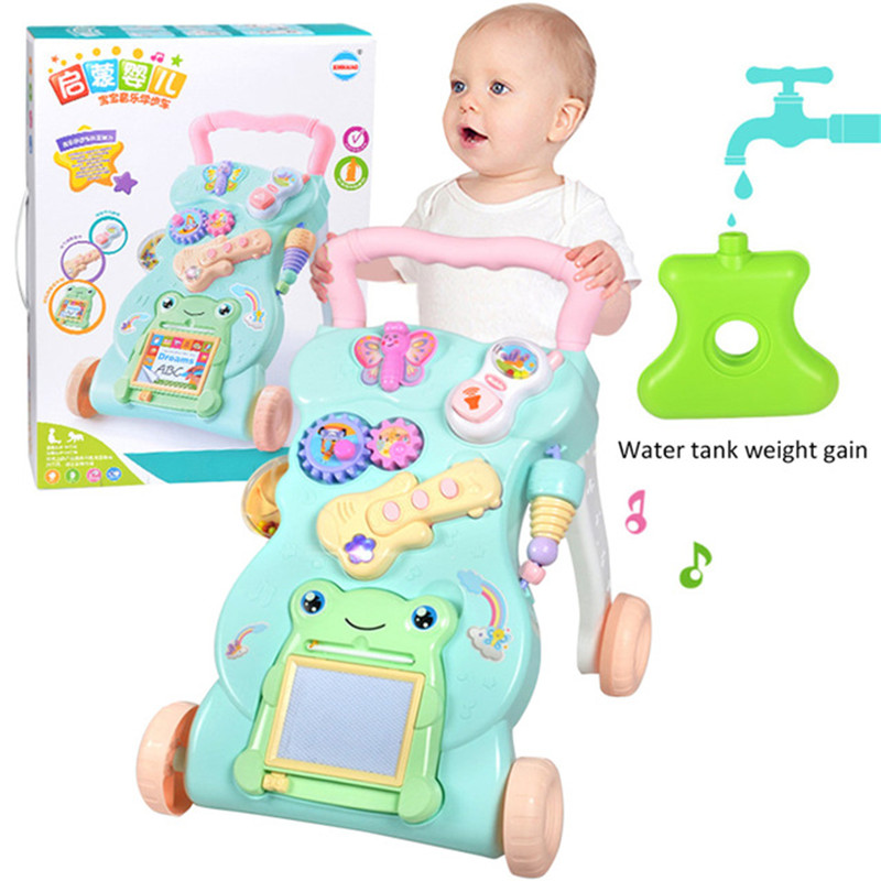 Multifunction baby walker musical toys with adjustable speed baby trolley for toddler send packing boxMultifunction baby walker musical toys with adjustable speed baby trolley for toddler send packing box