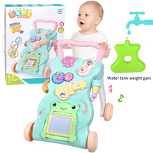 Multifunction baby walker musical toys with adjustable speed baby trolley for toddler send packing box цена и фото