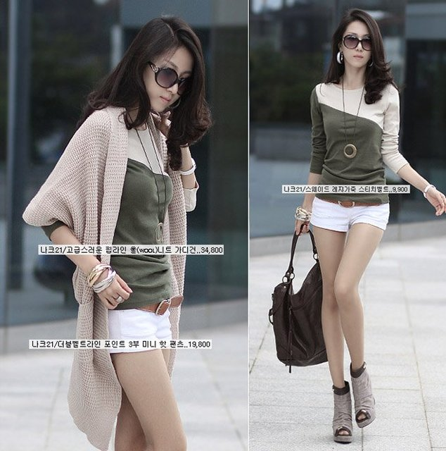 2012 Free Shipping / Women's T-Shirts / Piece / Free Size / 5 Colors / Cotton / Long Sleeve / O*Neck