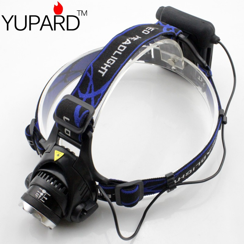 YUPARD Waterproof XML T6 Zoom LED Headlamp Headlight Kepala Lampu - Pencahayaan portabel