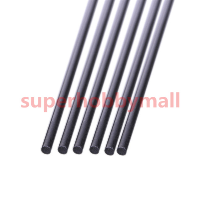 5pcs 4 mm Diameter x 500mm Carbon Fiber Rods For RC Airplane High Quality Pole