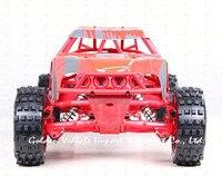Baja truck 1/5 rc 305FT Red prototype car steel rollcage nylon plate + radio control GT 3B gas rc car gasoline car