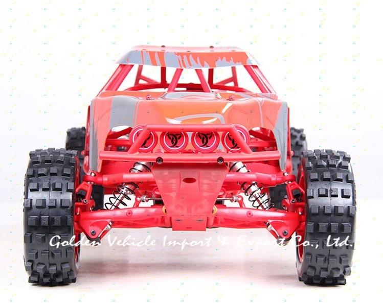 Baja truck 1/5 rc 305FT Red  prototype car steel rollcage nylon plate + radio control GT 3B gas rc car gasoline car diesel rollcage dz1716