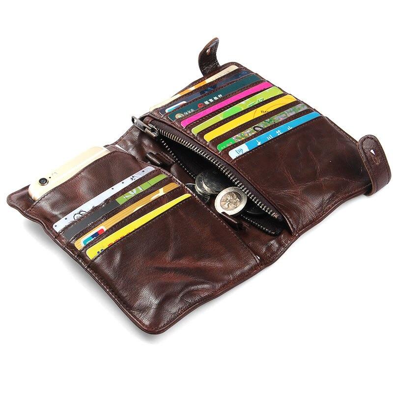 Brieftasche Schicht Falten 1 Geldbörse Männer Bjyl Schaffell Benutzerdefinierte Handgemachte Die Hand Von Langen 2 Leder Abschnitt Vintage Erste FX85qw8