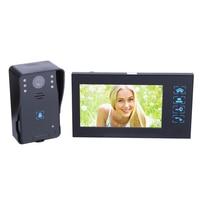 HD visual Дверные звонки 7 дюймов видео домофон 1 монитор 1 открытый машина HD камеры инфракрасного ночного видения домашние системы безопасности