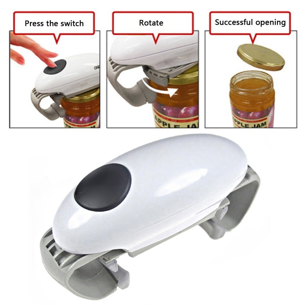 Automatic Jar And Tin Opener And Electric Can And Bottle Opener Kitchen Gadget 4