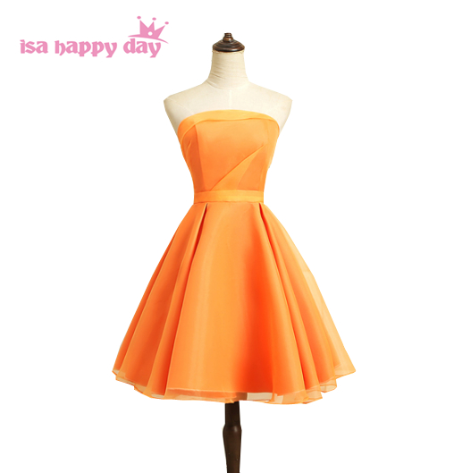 Orange cute prom dresses best photo