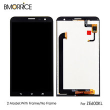 купить For ASUS ZenFone 2 Laser ZE600KL Original LCD Display Touch Screen Digitizer Assembly Replacement Parts with Frame 6.0'' по цене 1295.46 рублей