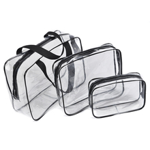 PVC Cosmetic Bags Women Transparent Clear Zipper Makeup Bags