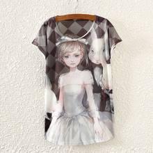 2015 New Design Fashion Vintage Spring Summer T Shirt Women Clothing Tops Tshirt Animal Print T-shirt Woman Clothes TPA5