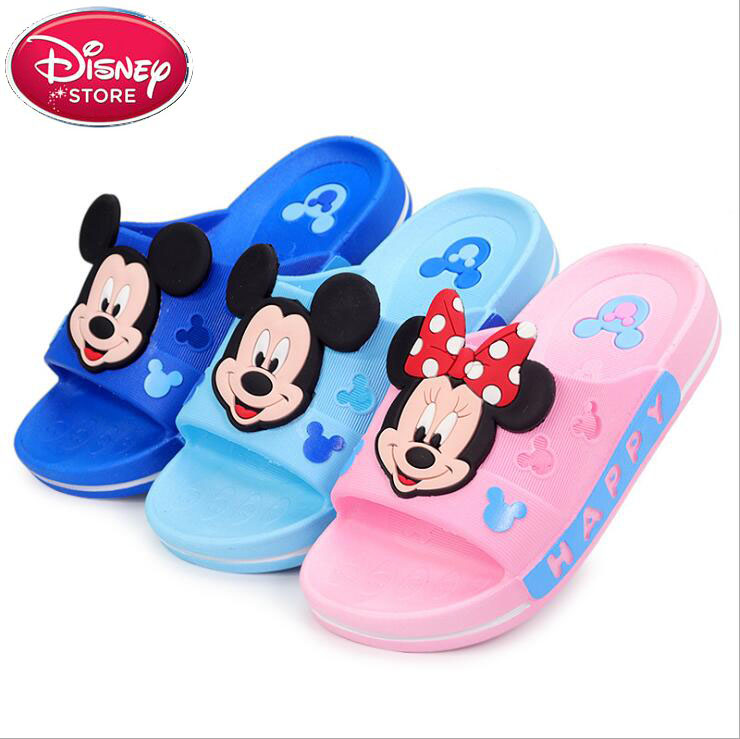 2019 Disney Little Kids Slippers Girls Boys Flip Flop Toddler Baby Minnie Slippers Mickey Sandals Shoes