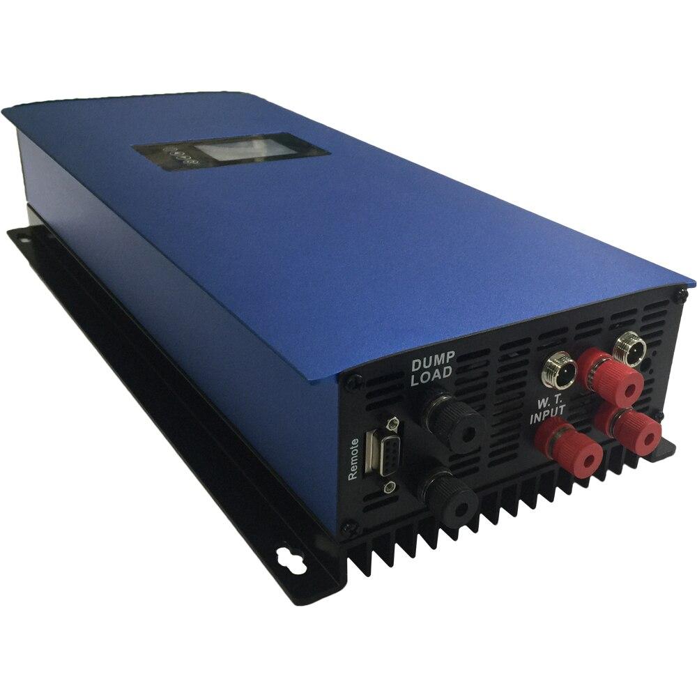 Onde sinusoïdale Pure de l'inverseur MPPT de grille de vent de 1000 W avec la résistance de charge d'affichage à cristaux liquides et de décharge, 22-60 V/45-90 V pour le générateur d'éolienne à ca de 3 phases
