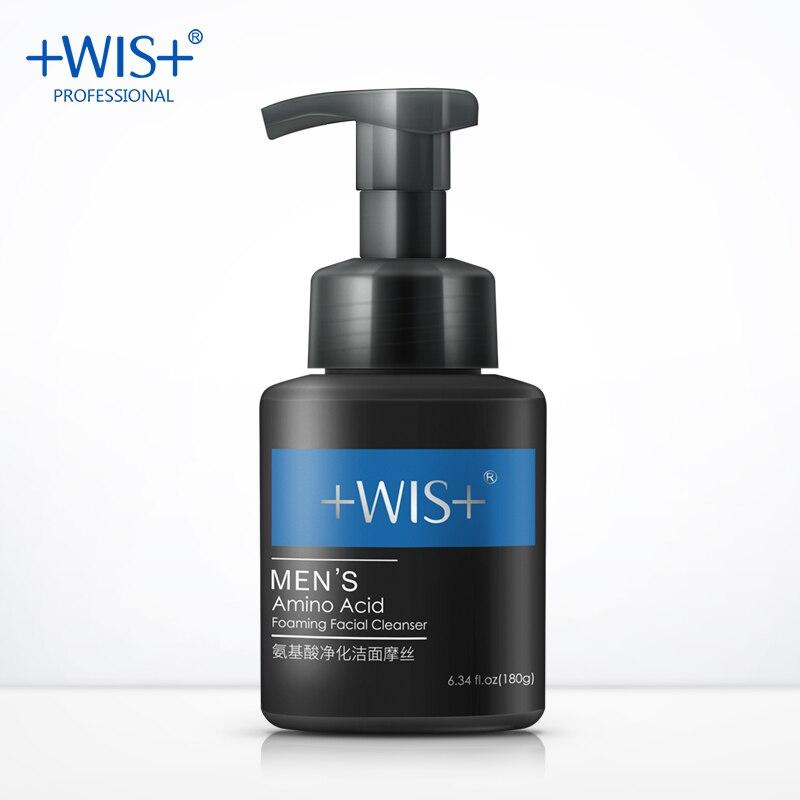 WIS homme nettoyant pour le visage acide aminé purifiant et nettoyant mousse salubre bulle anti-huile humidité modérée nettoyage en profondeur