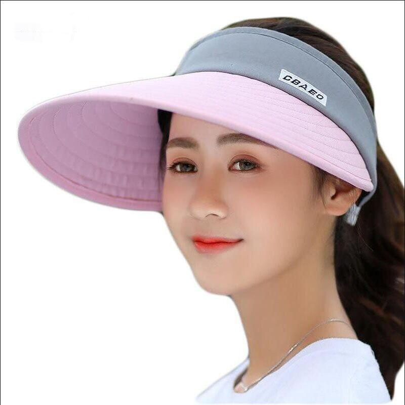 2019 New Summer Long Visors UPV50 Sun Protection Outdoor Sport Hats for Women Men Empty Top Caps Visor Hat in Women 39 s Sun Hats from Apparel Accessories