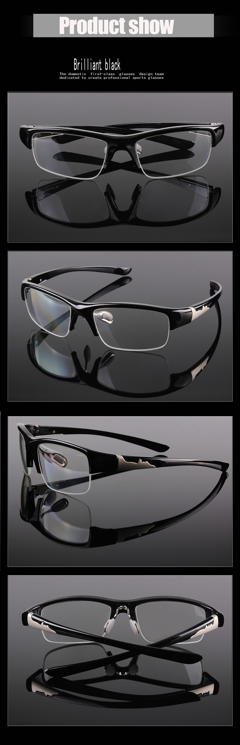 95eba959e50c9 ... for men and women. Package included   Glasses + Pouch + Case +Cleaning  cloth