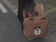 Оригинальный дизайн BearBrown рюкзак cute bear большие глаза мешок школы корейский и японский стиль мягкой девушка горячей продажи книги мешок