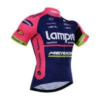 Squadra Pro Lampre Merida Cycling Jersey T-Shirt Da Uomo Ropa Mujer Estate Corta Abbigliamento Manica