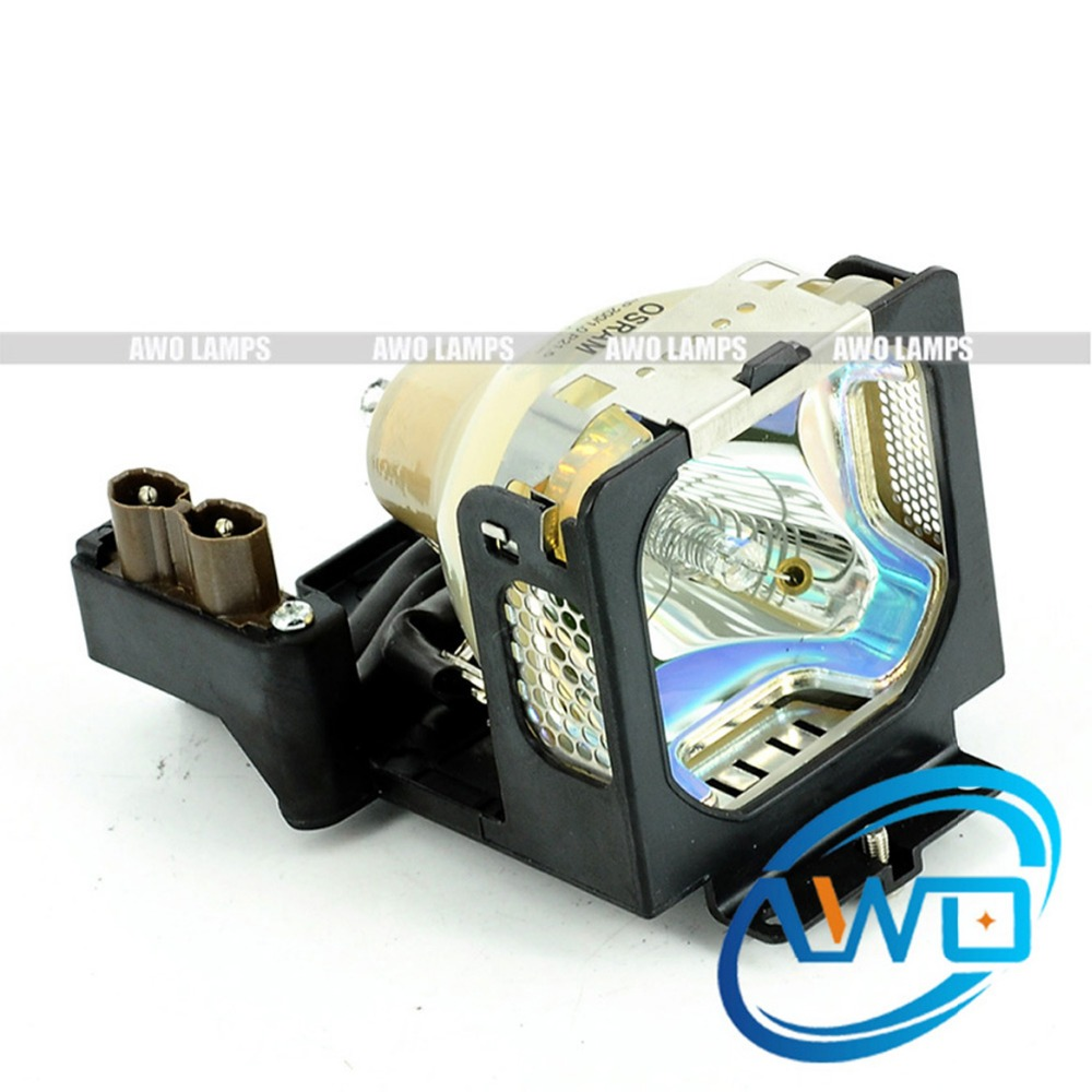 AWO Original Projector Lamp LV-LP19 with Housing P-VIP200W inside for CANON LV-5210 LV-5220 pureglare original projector lamp for canon lv lp24 0942b001aa with housing