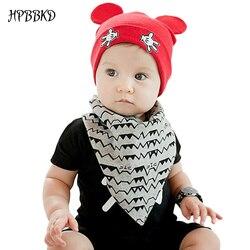 2018 новый для маленьких мальчиков и девочек шапка для новорожденных Хлопок Skullies Love mama принт Кепки s Шапки для маленьких детей вязаные шапочки...