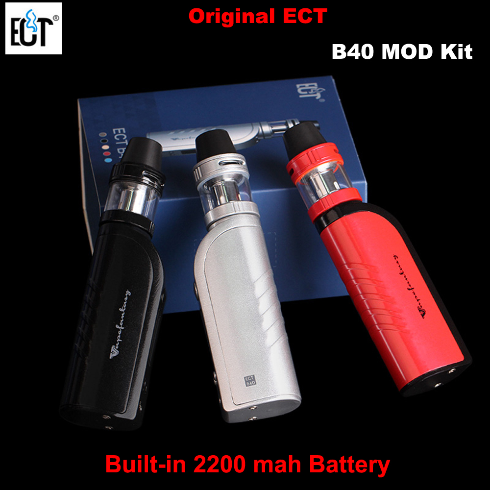 ECT B40 Box Mod Electronic Cigarettes starter kit Kenjoy Met Atomizer Vaporizer Built In 2200mAh